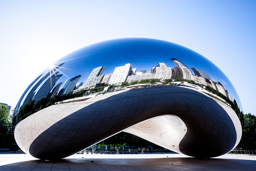 Cloud Gate, Mirror Bean, Chicago travel photography