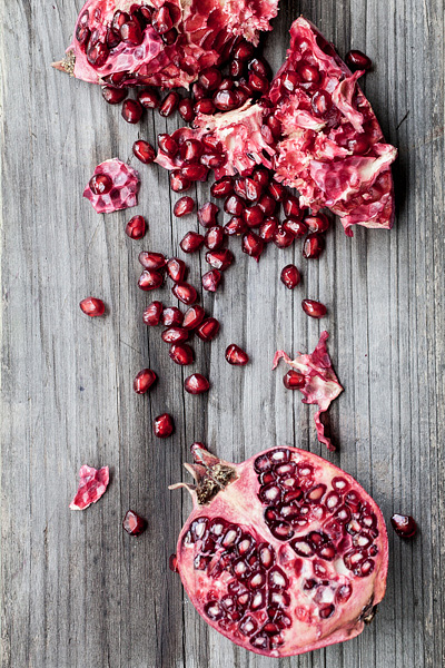 Pomegranates, Commercial food photographer