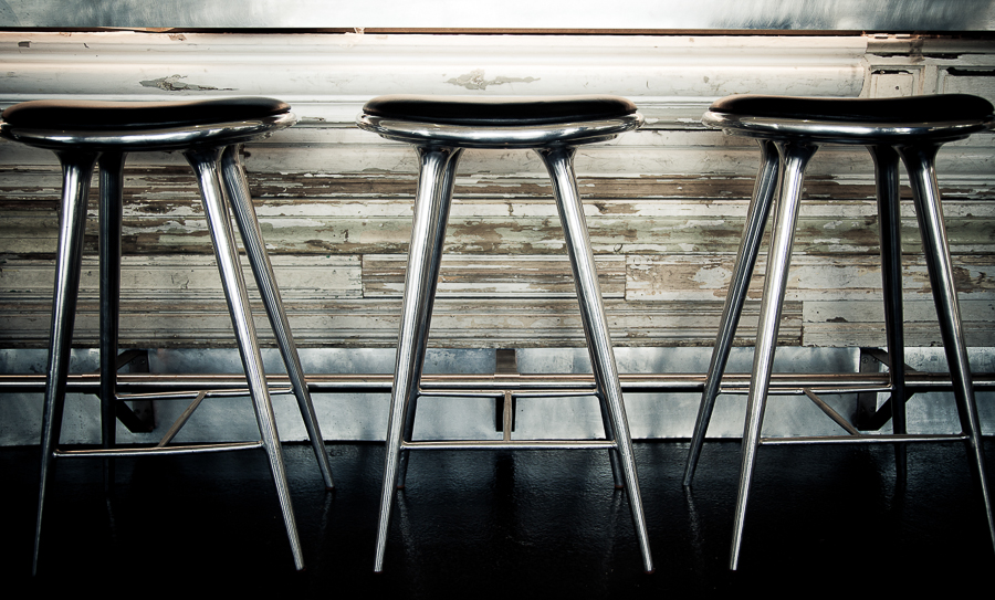 fiskebaren, danish restaurant, steel bar chairs, kødbyen