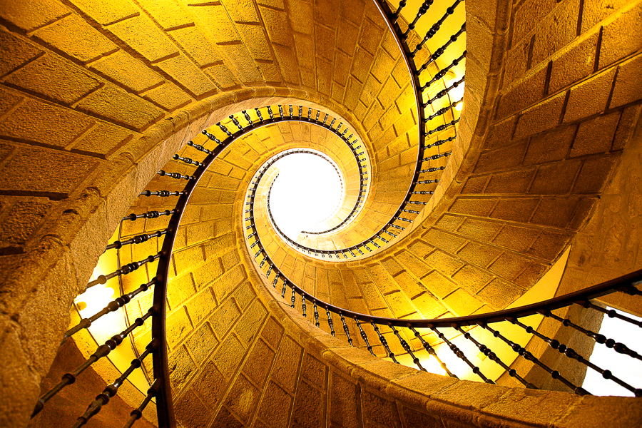 Stairs, stair case, swirl