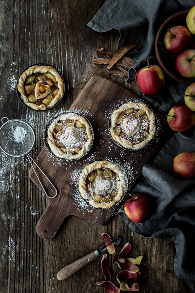 Apple pie, Food photography