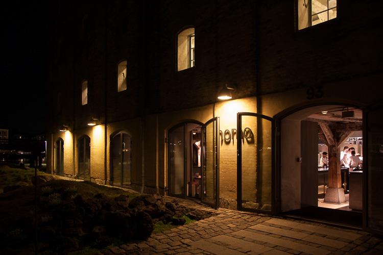 Noma restaurant, copenhagen, evening, night