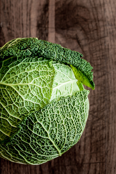 Food photography, cabbage