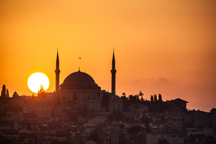 Travel photographer Istanbul, Sarah Coghill, sunset
