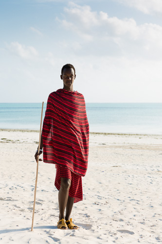 Travel photography, traditional man, beach, zanzibar