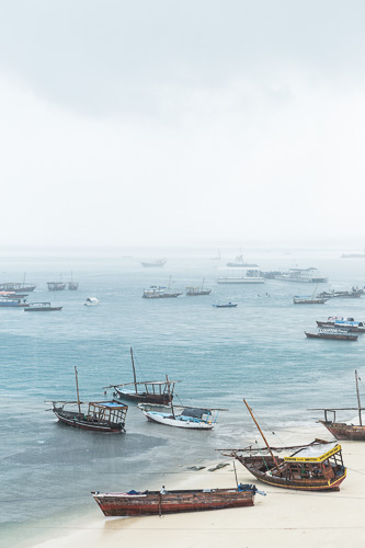 Travel photography, Zanzibar, ships on shore