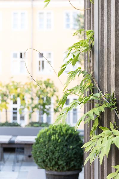 Hotel outdoor terrace, natural light, photographer Copenhagen, Skt. Petri